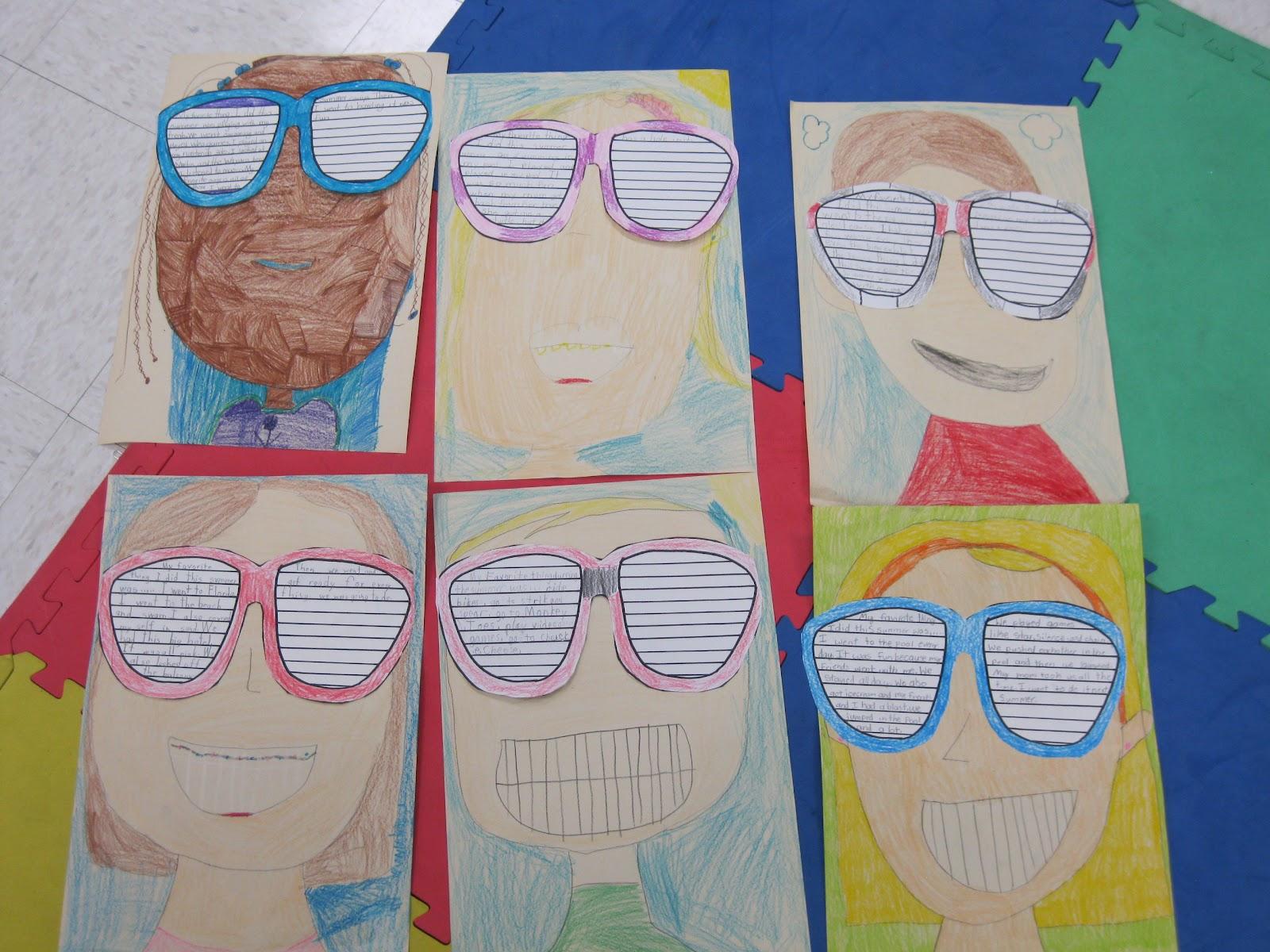 Sunglasses Template Printable First Grade